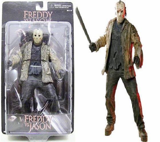 "NECA 7' ""FREDDY VS JASON VORHEES ACTION FIGURE-in Action"