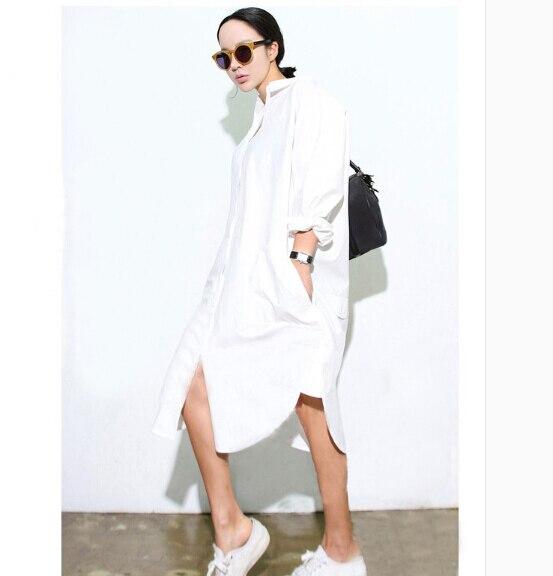 Popular White Shirt Dress-Buy Cheap White Shirt Dress lots from ...