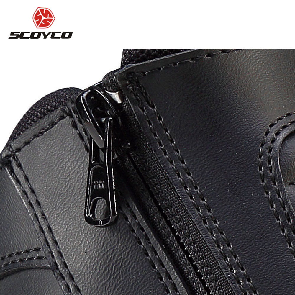 ea36ec03cfd SCOYCO Motorcycle Boots Men s Moto Vintage Ankle Boots Bota Motociclista  Moto Shoes Motocross Boots Chaussure Moto MBT002-in Motocycle Boots from ...