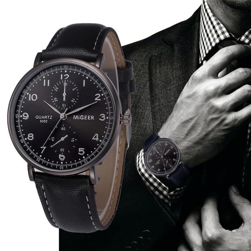 Brand Watches Men Retro Design Leather Band Analog Alloy Quartz Wrist Watch Fashion Date Clock Man hour Relogio Masculino A60 exetera argenti фигурка firesse 9х10х19 см