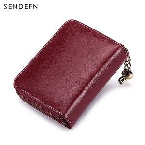 Image 3 - Кошелек SENDEFN Trend, женский кошелек, короткий кошелек, качественный кошелек с пуговицами, качественный кошелек с цветами, 5185H 75