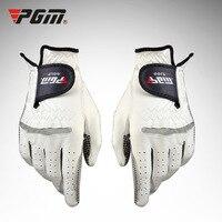 Pgm الجولف قفازات لل مان 1 قطع جلد طبيعي زيادة الاحتكاك تبديد الحرارة تمتص العرق جولف اكسسوارات guantes جولف