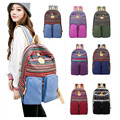 Fashion women canvas backpack national school backpack bag for teenagers shoulder bag mochila feminine ethnic rucksack