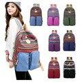 Mujeres de moda lienzo mochila bolsa de hombro mochila mochila escolar mochila para adolescentes nacional étnico femenino mochila