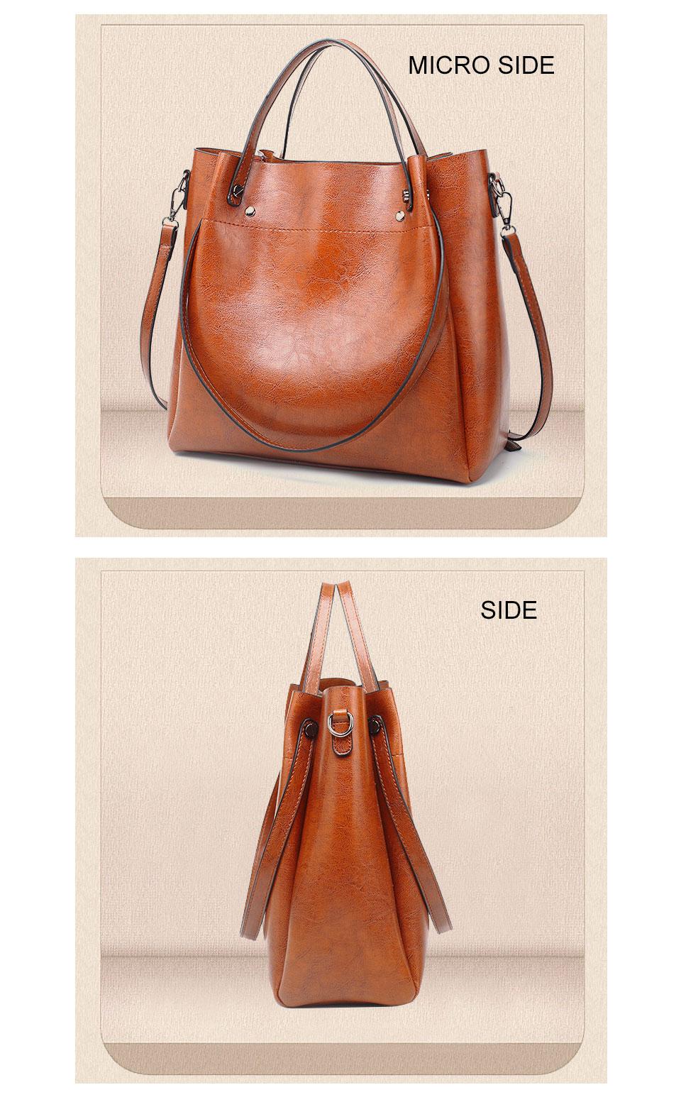 12379680f990 ACELURE Casual Large Capacity Women Tote Shoulder Bag PU Leather Ladies  Bucket Handbag Messenger Bag Soft Shopping Crossbody #34456