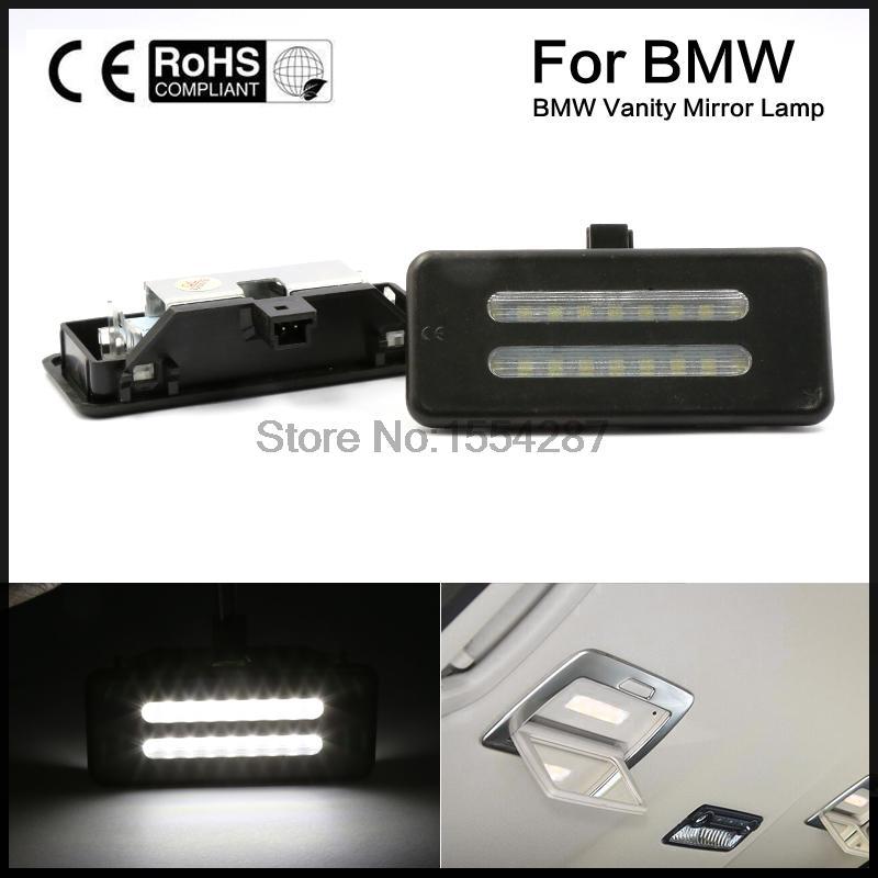 2 шт. Прямая fit белый ошибок светодиодный косметическое зеркало с подсветкой для BMW 3 5 серии X1 X3 X5 X6 E60 e61 E90 E91 E92 E70 E71 E84