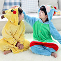 Winter Warm Long sleeve Pyjamas Kids Cartoon Pikachu Cosplay Animal Onesie Flannel Children Sleepwear Boys Girls Pajamas