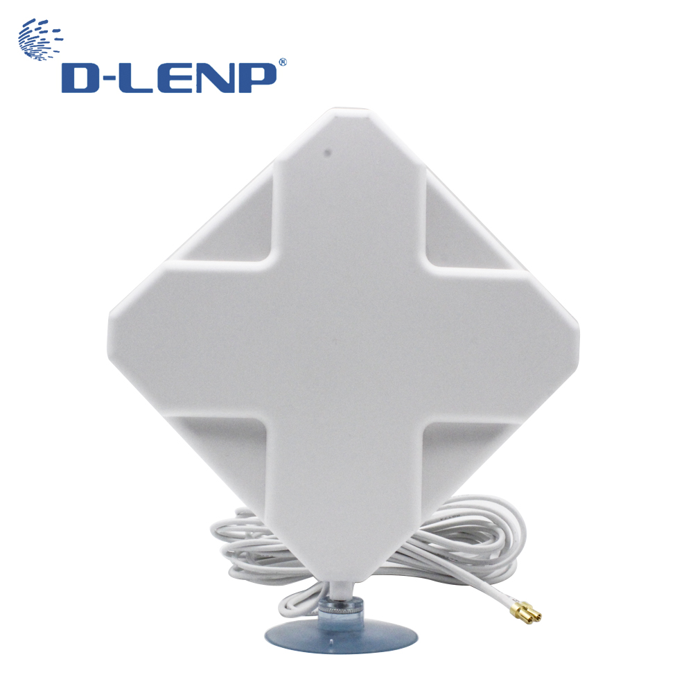 Dlenp Aeria 4G Mimo Antennas Ts9 4G Antenna 35dBi 2*TS9 Connector for 4G Modem Router Antenna with 2M Cable Signal Amplifier