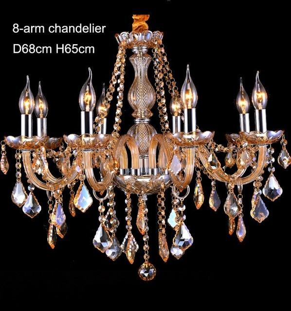 SHIXNIMAO Gold Crystal LED Chandelier Home For Living Dining Room Lamp Indoor Modern Chandelier Lustre Crystal Light 110V-240V