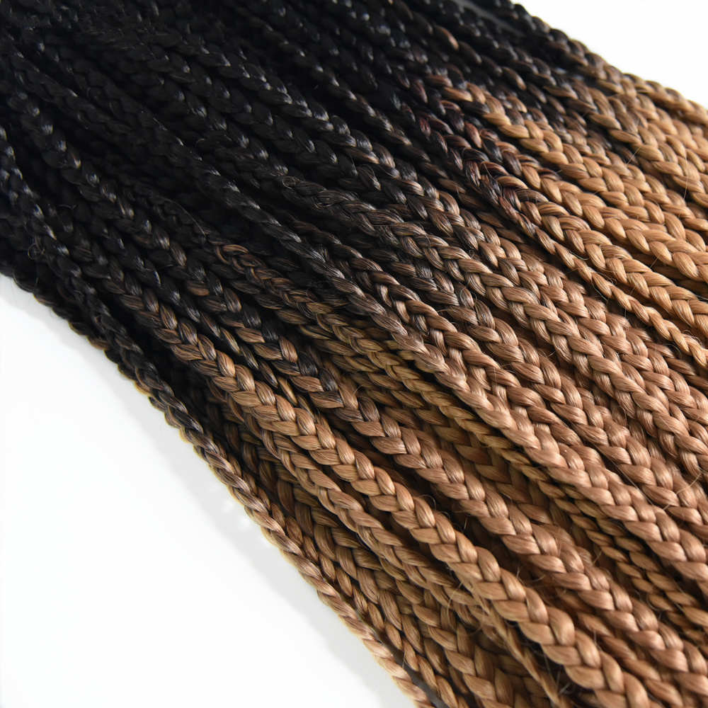 Feilimei Ombre Blonde 3s Box Braid Hair Extensions 22 Inch