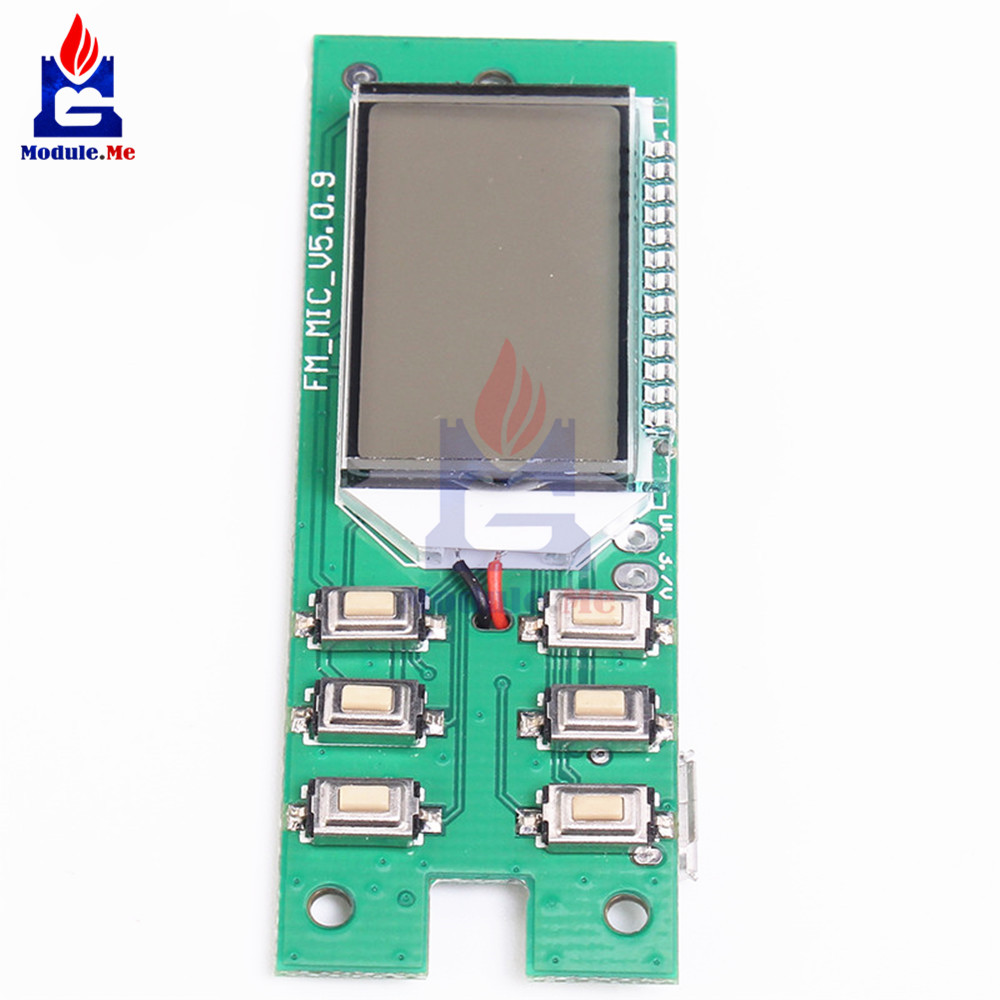 Dc 3 5v Fm Module Transmitter Wireless Microphone Circuit Board 870mhz 1080mhz Computer Audio Transmitting In Integrated Circuits From