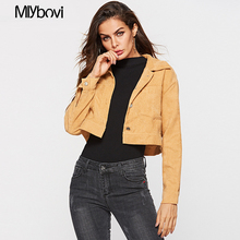 Womens Autumn Casual Jackets Yellow Ladies Color Block Button Long Sleeve Denim