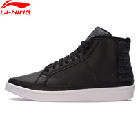 Li Ning Men Winter Warm Plush Basketball Shoes Wearable Leather Stitching Sneakers LiNing COMBAT STYLE Sports