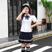 Bloom Love Newly School Uniform Navy Sailor Costumes Lady Lolita Cosplay Uniform C99