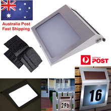 Solar Powered Stainless Steel 3 LED Doorplate Lamp House Number and Letters Light(China)