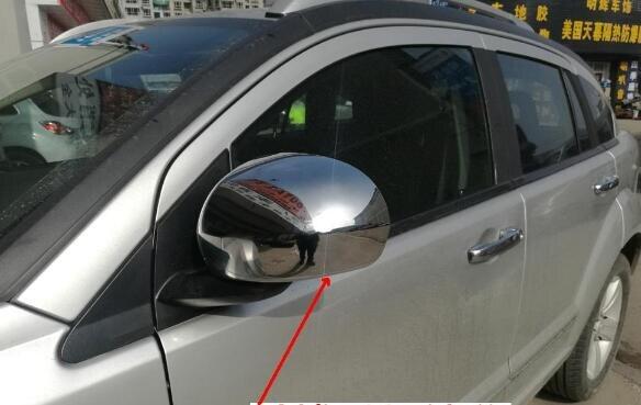 Étoile supérieure ABS chrome 2 pièces voiture côté porte vue arrière rétroviseur décoration protection couverture pour Dodge calibre 2008-2011