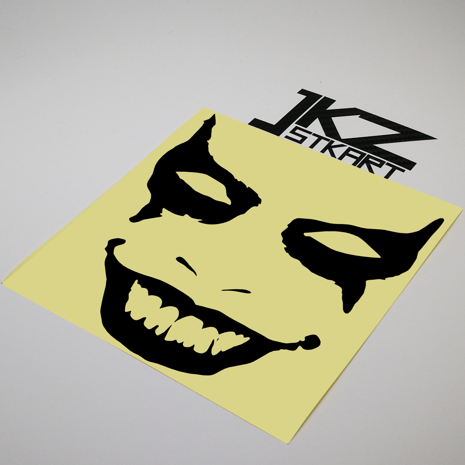 JKZ STKART Vinyl Die Cut Car Sticker Decal Joker Mask Face 15x 15 cm for Motor Bike Laptop Helmet Decorated Sticker image