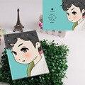 Kpop EXO cartoon workbooks waterproof Notebooks Luhan Lay Baekhyun Chanyeol Chen Suho Do Kris Tao Xiumin Kai Sehun 20*15cm