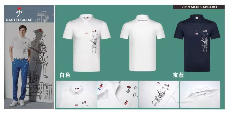Q2019 Golf Costume Men Spring and Summer Short Sleeve golf T Shirt Quick drying Breathable Golf Jersey Golf Clothes in Golf Shirts from Sports Entertainment
