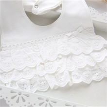 Lovely Lace Cotton Baby Girl's Bib