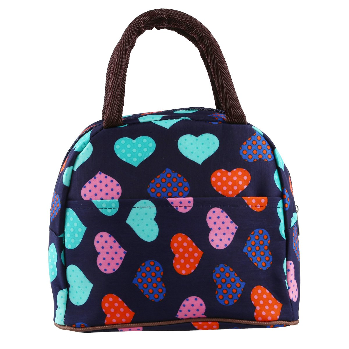 LJL Lunch Bag, Lovely Oxford Waterproof Canvas Lunch Box For Women Kids and Adults