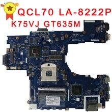 Оригинальный K75VM материнская плата для ноутбука GT630M/GT635M Графика для ноутбуков Asus плата полный Тесты и бесплатная доставка