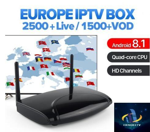 1 Year HKNOKETV Code Android 8.1 TV Box IPTV Europe Sweden Italy Spain UK Germany Greek IPTV Top Box