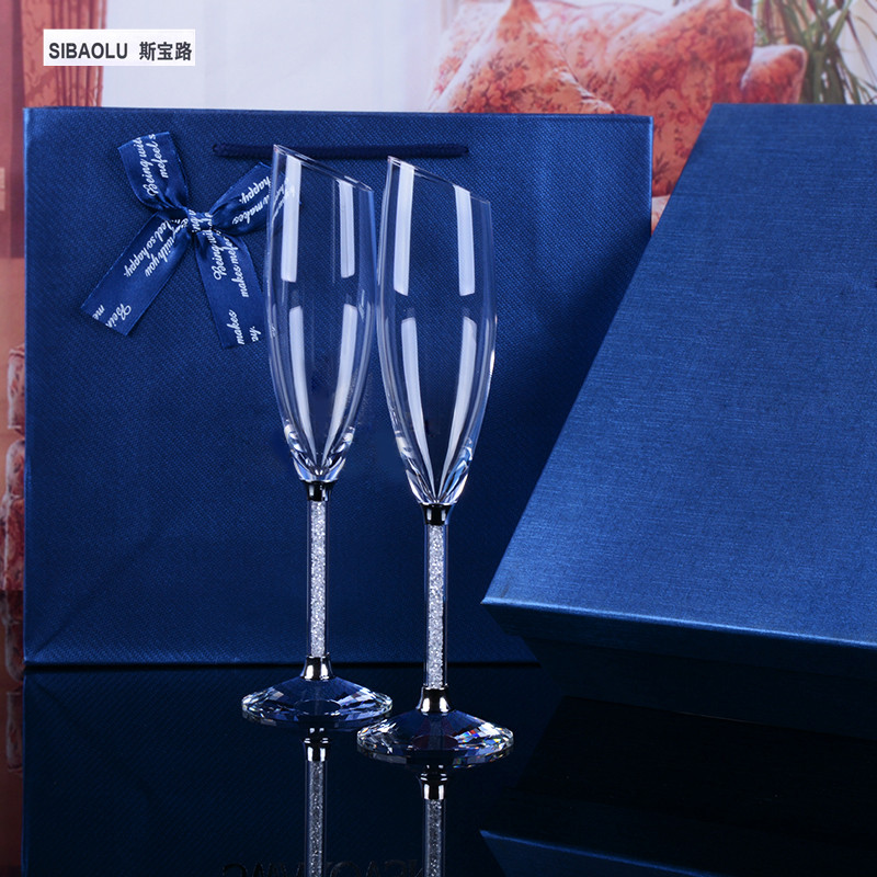 Wine Glasses Bevel Crystal Champagne Flutes Coupe