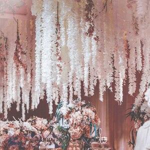 Image 4 - 100 Cm Nhân Tạo Hoa Anh Đào Dây Leo Hoa Lụa Sakura Cho Tiệc Cưới Trần Trang Trí Giả Vòng Hoa Vòm Thường Xuân Tự Làm Đảng trang Trí