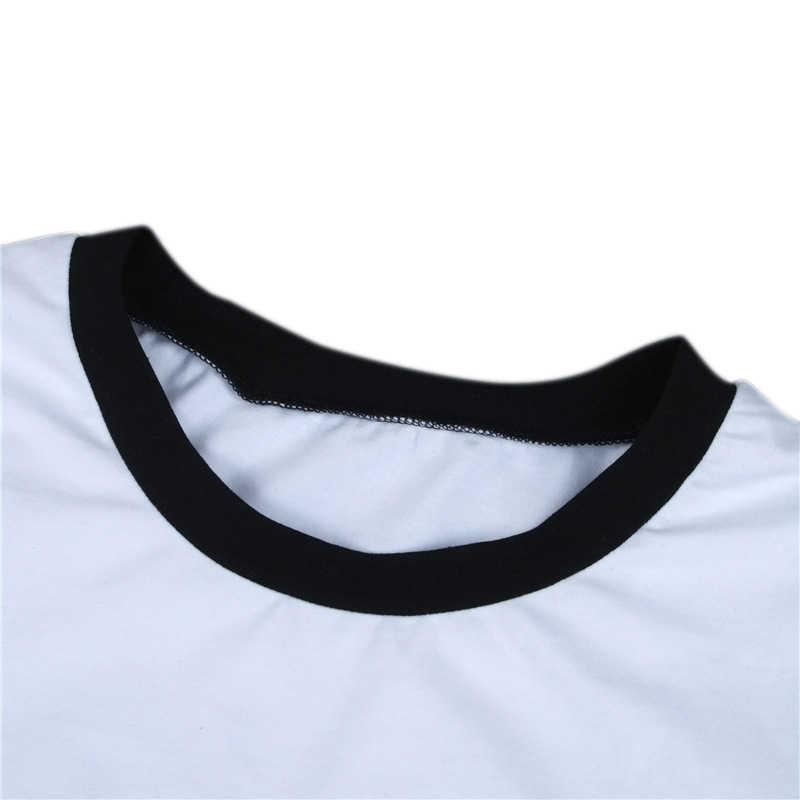 T חולצה נשים זר דבר Harajuku קצר שרוול גבירותיי חולצות קצוץ למעלה זר דברים אותיות מודפס Tees Mujer נקבה