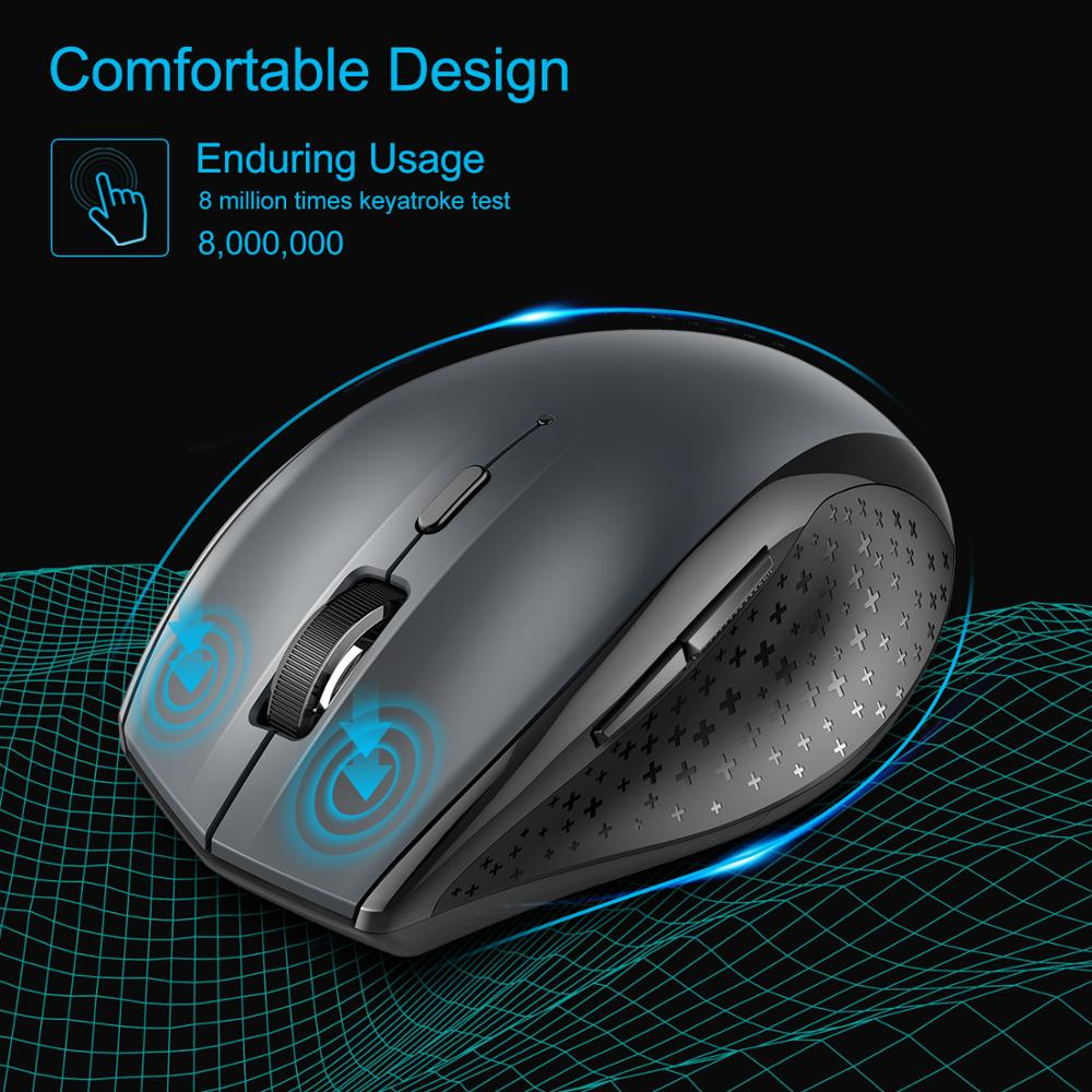 2.4Ghz 4800DPI Professional Wireless Gaming Mouse USB Optical Mice PC Computer