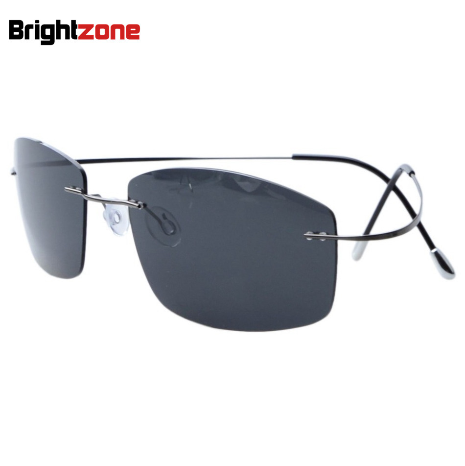 Ultra-light Non-screw Non-hinge Rimless Titanium Frame Gray Green - Apparel Accessories - Photo 1