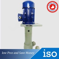 125W Small Acid Proof Alkali Vertical Submerged Pump Engineering Plastics Sewage Pump