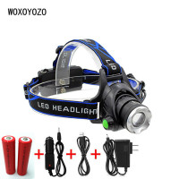 Powerful CREE XML T6 Headlights Headlamp Zoom Waterproof 18650 Rechargeable Battery Led Head Lamp Bicycle Camping