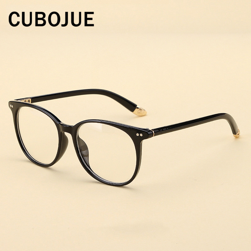e258ab776d59 Cubojue Vintage Square Glasses Frame Men Woman Large Face Eyeglasses  Spectacles for Prescription Retro Eyewear with Optical Lens-in Eyewear  Frames from ...