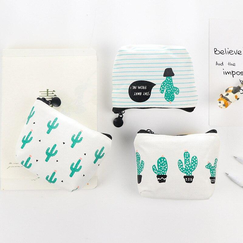 ETya 1 шт. маленькие милые дети Для женщин Портмоне кошелек Портмоне деньги мешок кактус изменить чехол сумка держатель для ключей ...