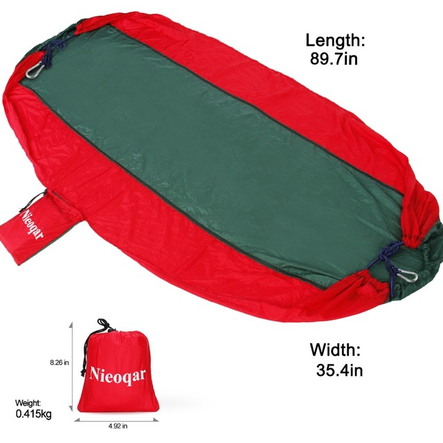 ultralight 1-2 person hammocks outdoor camping traveling hiking sleeping bed picnic swing tent single tent  Red, green 230*90CM