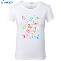 Summer Cute French Bulldog T Shirt Women Funny Watercolor Dog Printed T Shirt Soft Short Sleeve