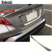 Car external Rear Bumper trunk Protect trim car styling outside Stainless Steel plate pedal 1pcs For Toyota C-HR CHR 2017 2018