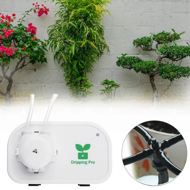 Image 2 - Garden Automatic Watering Device Mobile Phone Control Intelligent Drip Irrigation Tool Succulents Plant Watering Timer System-in Watering Kits from Home & Garden