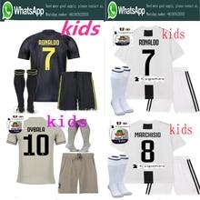 23d656ef3 2018 Serie A patch Quality RONALDO JUVENTUSES Soccer Jerseys kids kit+socks  18/19 Dybala Home Away Third Football Shirt kit+sock