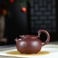 Creative Cute Cartoon Purple Clay Tea Pot Yixing Famous Craftsman Handmade Chinese Kung Fu Teapot Teaware Treasures 280ml