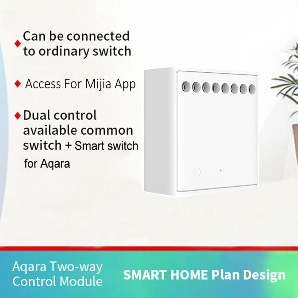 Xiaomi Aqara Wireless Relay Module Switch Controller Smart Setting Timer 2  way Control 2 Channels Work For Mijia APP and Homekit