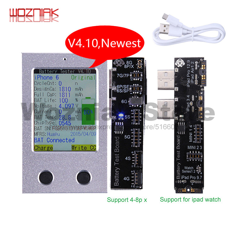 For Iphone 4 5s 6 6s 6p 6sp 7 7p 8 8p X For Ipad Mini 1 2 3 4 Air Pro  Battery Detector Zero Recognition And Repair Instrument