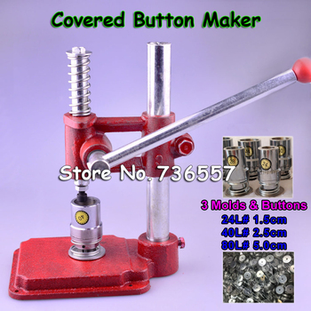 Manual Fabric Self Cover Button Maker Machines 3 Sizes Fabric Covered Button Press Machine Mold Tools 1.5cm 2.5cm 5.0cm Buttons