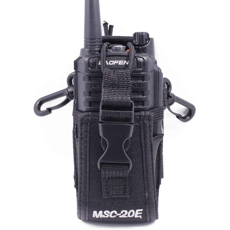Abbree MSC-20E Portable talkie-walkie en Nylon housse mains libres support pour Baofeng UV-XR UV-9R TYT Woxun Motorola Icom Radio
