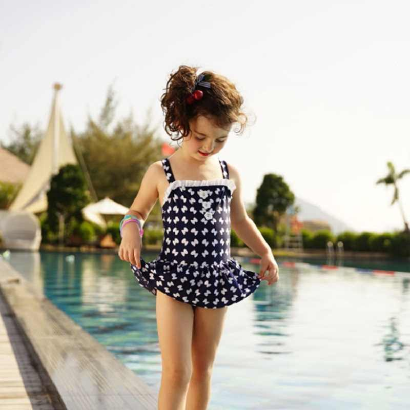 07bd73faac 2018 New Girls Bikini for Children gift Swimwear Two Piece Bathing Suit  Beach Swimsuit for girls Kids 6-10 years old Teenagers