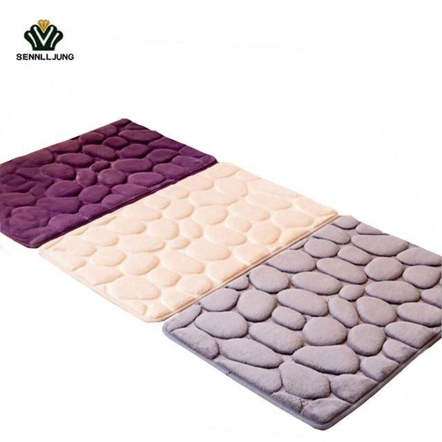 40 * 60cm Memory Foam Bathroom Floor Mat Doormats Balcony Kitchen Mats  Living Room Bath Carpet