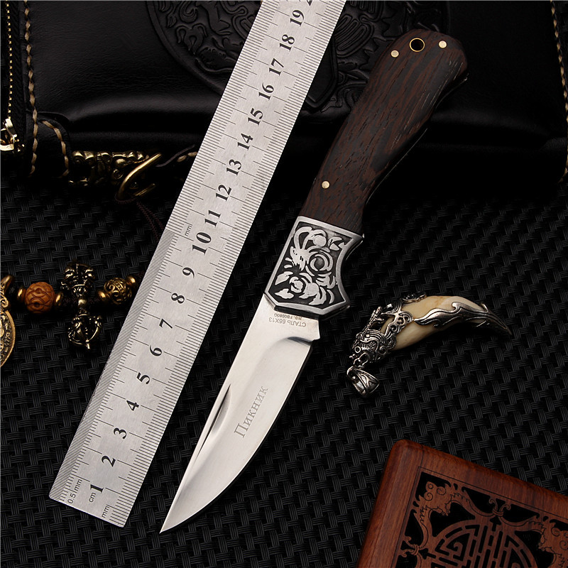 2018 New Hot Sale High Quality Outdoor Fixed Tactical Folding Fruit Knife Survival Pocket Camping Wood Handle Hunting Knives chachaka cool chain tactical outdoor folding knife survival high hardness pocket knives hunting camping faca kitchen supplies