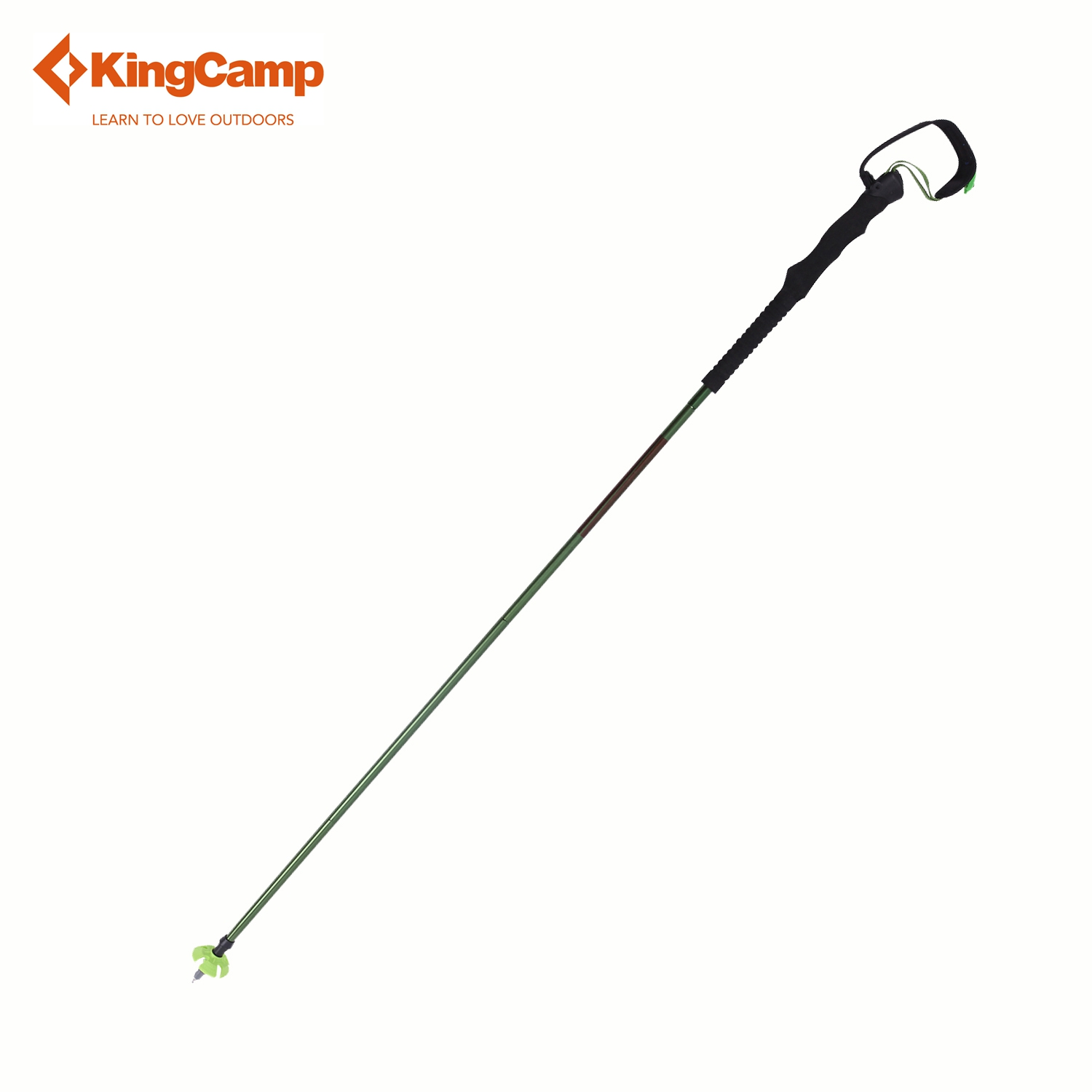 KingCamp Camping Nordic Walking Poles Aluminum Walking Stick Trekking Pole Portable Adjustable Ultralight 4-section (Single) point break abd8068 2pcs lot 190g pcs carbon fiber trekking pole 3 section ultralight adjustable hiking alpenstock walking stick